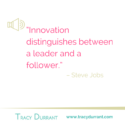 Quote of the week: Innovation distinguishes between a leader and a follower.